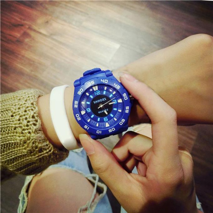 Jelly Market Harajuku Style Personality Cool Outdoor Sports Students Tide Table Blue Watch