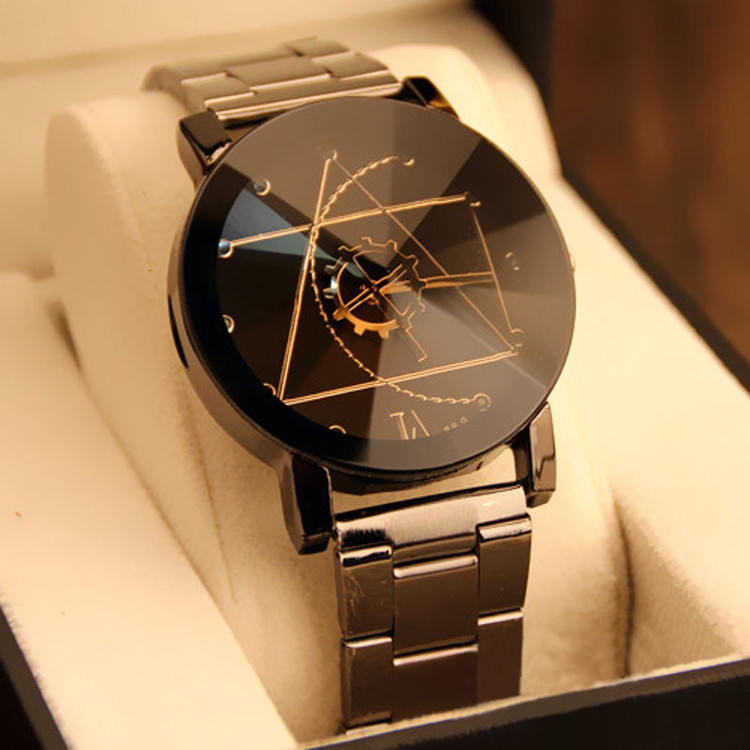 Fashion Watch Stainless Steel Men's Quartz Analog Wrist Watch