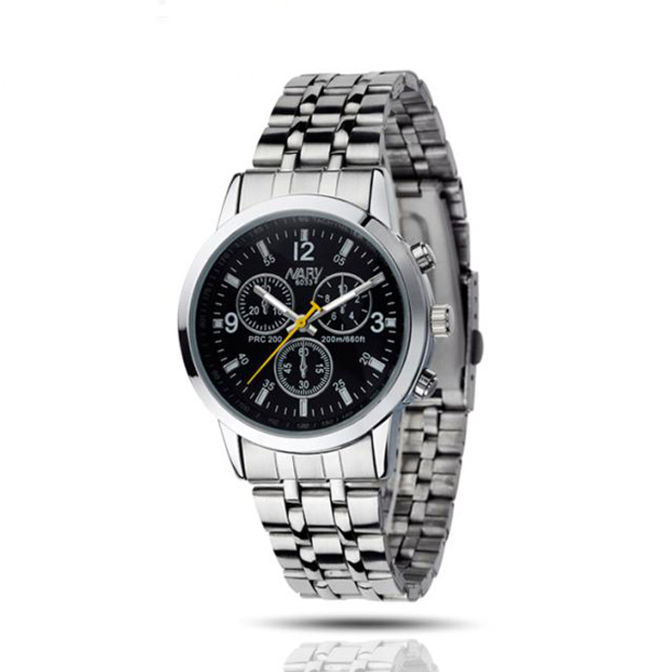 Mens Luxury Stainless Steel Quartz Business Man Wrist Watch