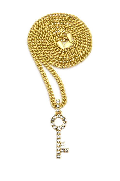 I Got Keys Hip Hop Diamond Cz Hip Hop Pendant Gold