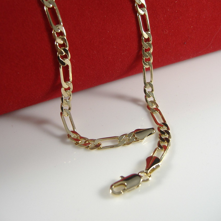 4mm Figaro Link Chain Necklace