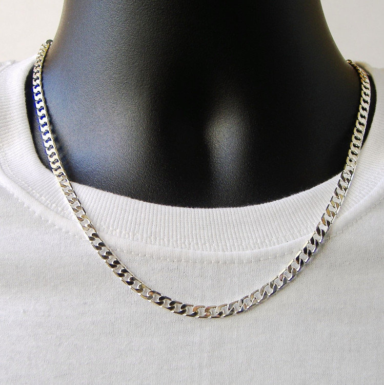 925 Silver 4.8mm Classic Cuban Link