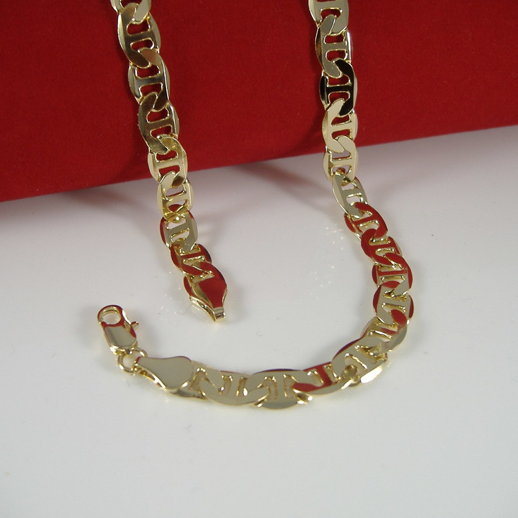 14k Gold 6mm 20 Inch G-Link Chain Necklace