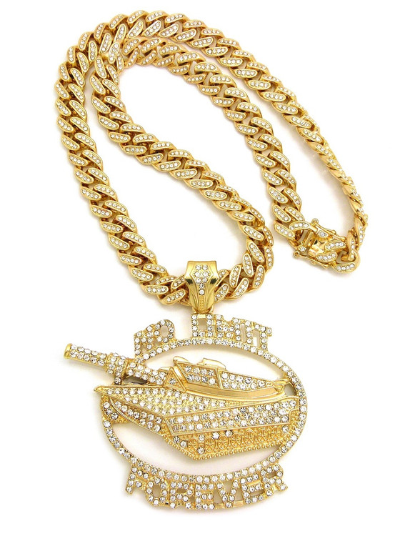 No Limit Forever Inspired Simulated Diamond Cuban Link 14k Gold Hip Hop Chain
