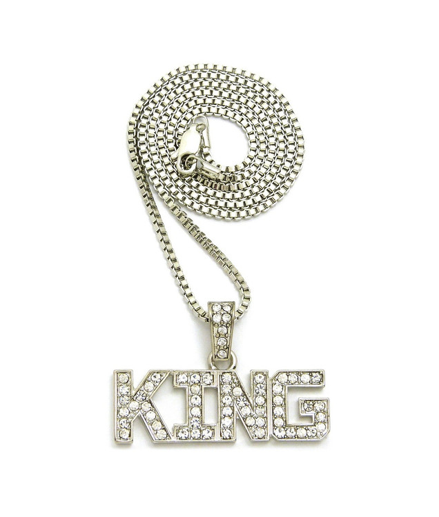 Hip hop pendants bling bling pendants iced out pendants 925 rhodium silver hip hop king diamond cz bling pendant mozeypictures Gallery
