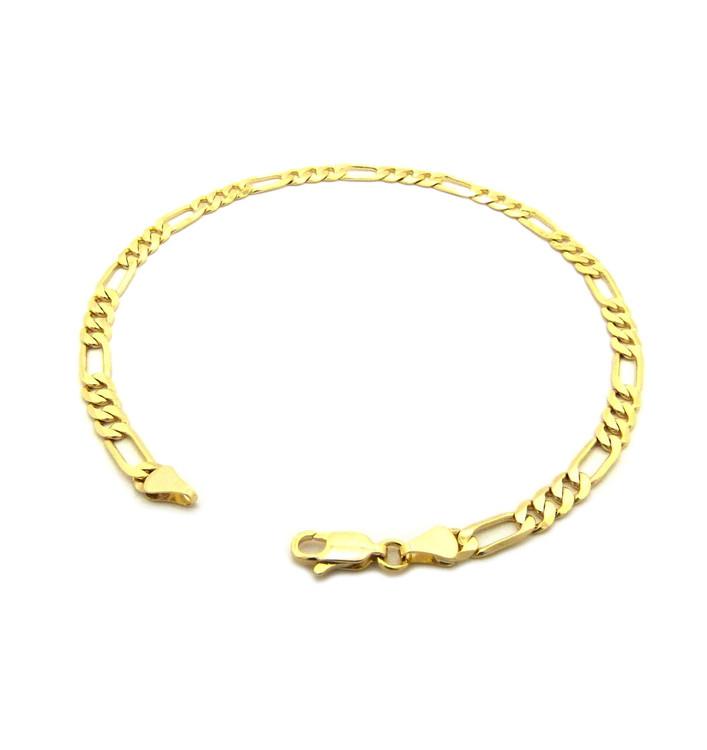 14k Gold 4.8mm Feminine Figaro Link Ankle Bracelet