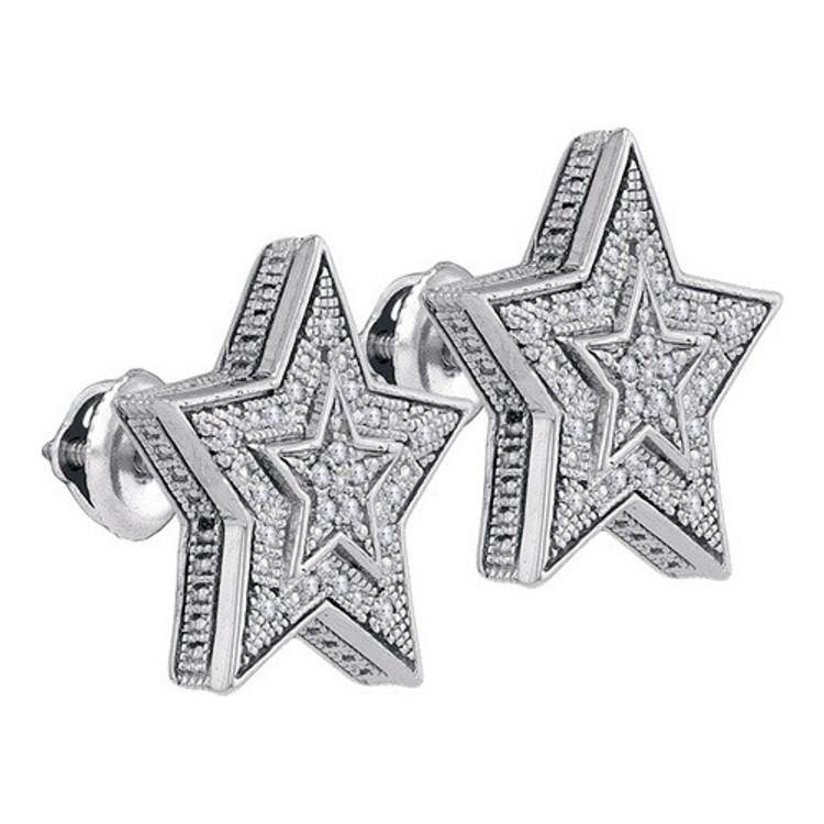 Bling Bling Superstar 925 0.10Ctw- Diamond Micro-Pave Earrings
