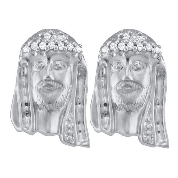 Jesus Piece Diamond Earrings