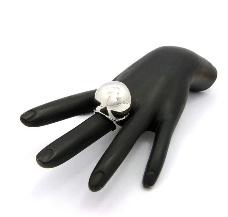 Ladies .925 Silver Ice Cream Ring One Size