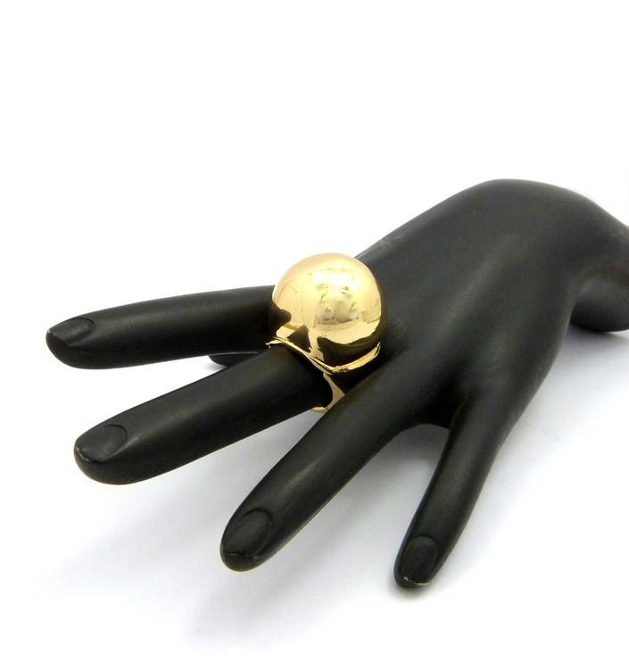 Ladies 14k Gold Ice Cream Ring One Size