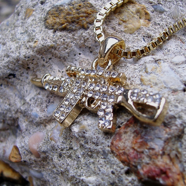 Machine Gun Hip Hop Pendant