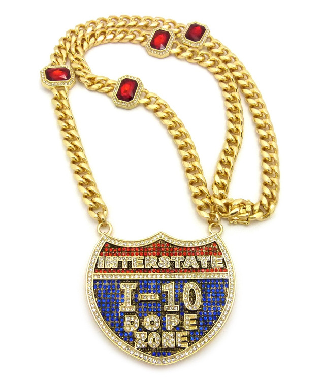 14k Gold Interstate 1-10 Dope Zone