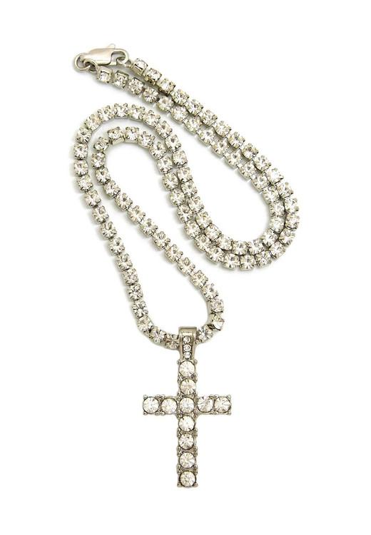 Prong Set Diamond Cz Stone Chain