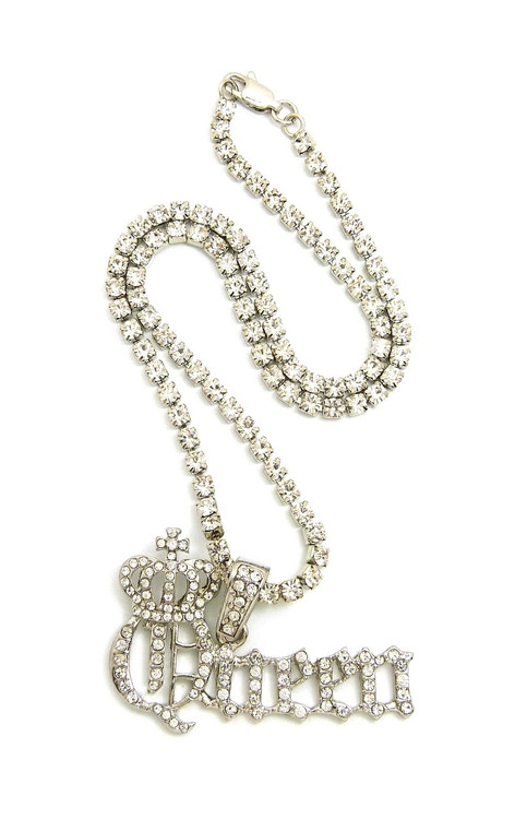 The Queen Bee Necklace Silver