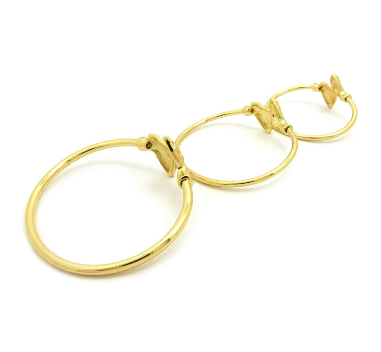14k Gold Nefertiti Bangle Bracelet