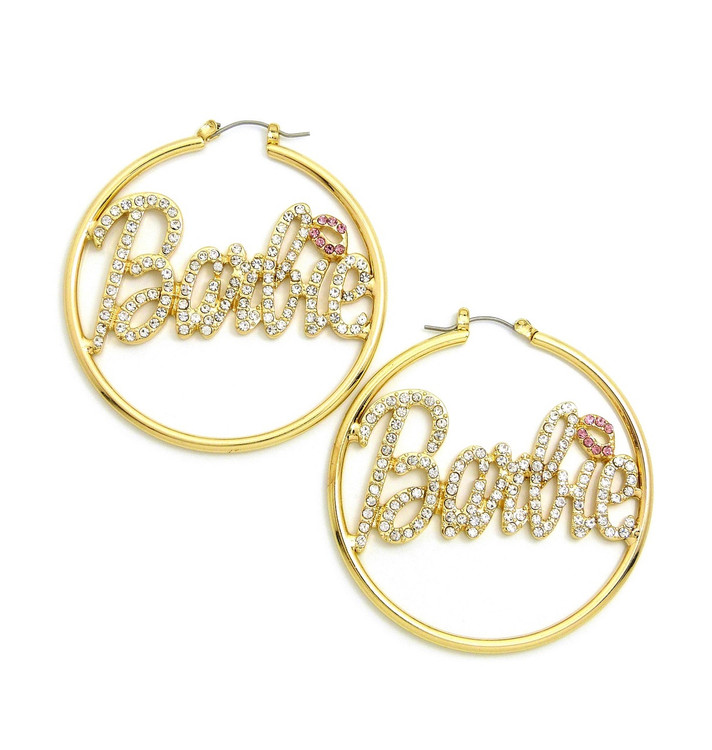 Barbie Hoop Earrings