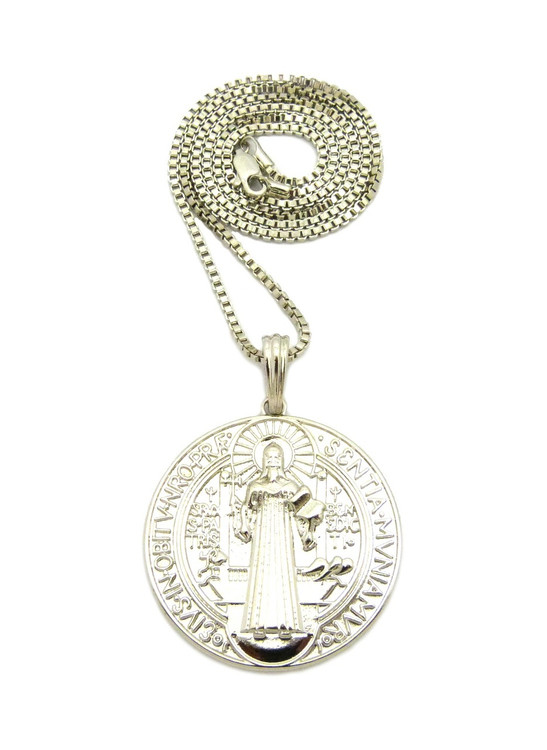 Sterling Silver Saint Benedict Cross