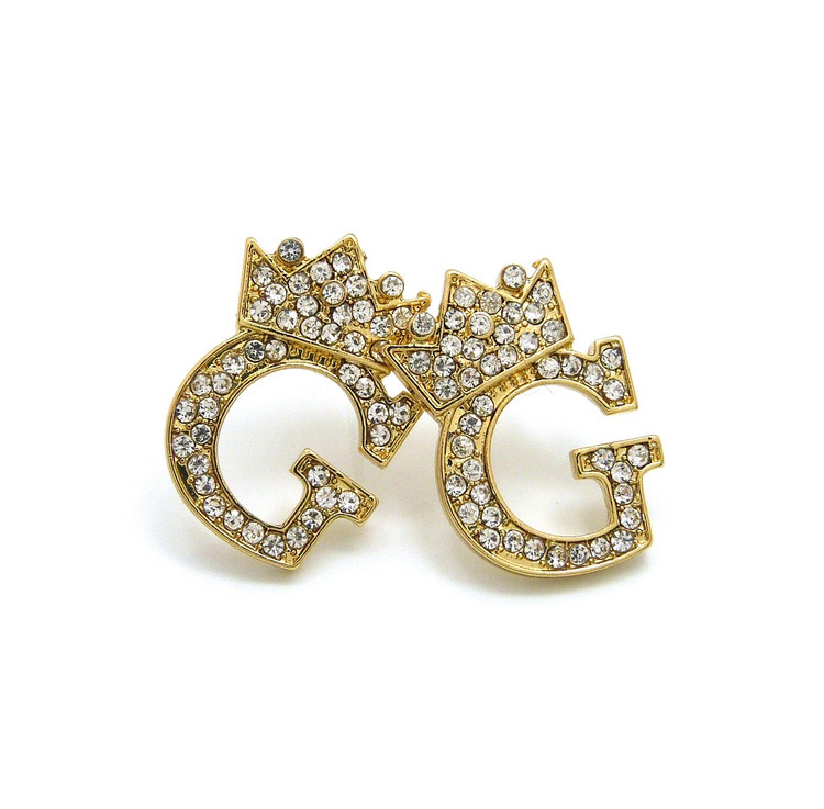 Gold Initial G Earrings