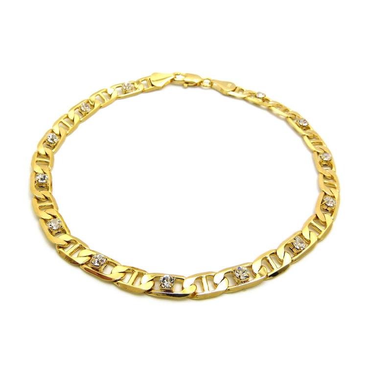 Gucci Link Diamond Cz Ankle Bracelet