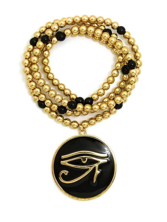 14k Gold Eye Of Ra Medallion