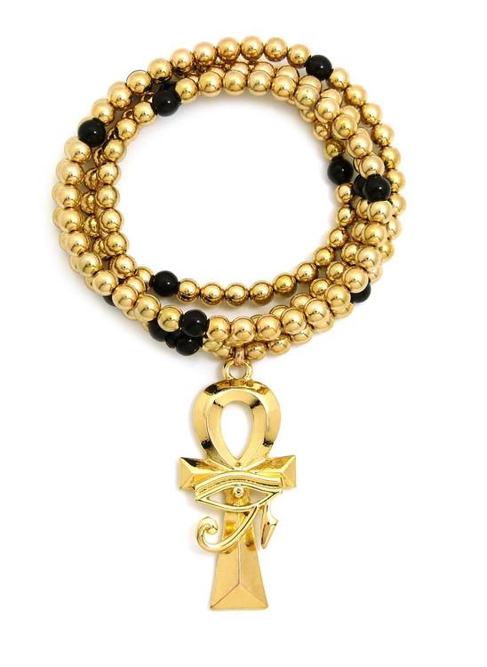 Gold Eye Of Ra Ankh Cross