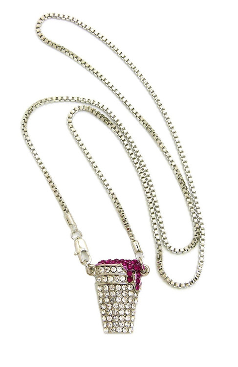 Iced Out .925 Sterling Silver Sizzurp Diamond Simulate Chain