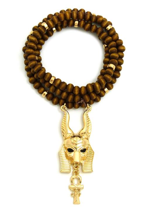 Anubis Ankh Cross Bead Pendant