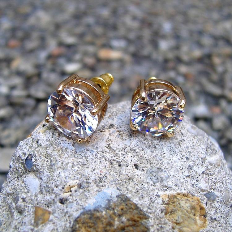 14k Gold 11mm Earrings