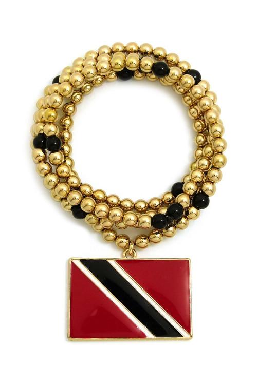 Flag of Trinidad and Tobago CCB Chain Pendant