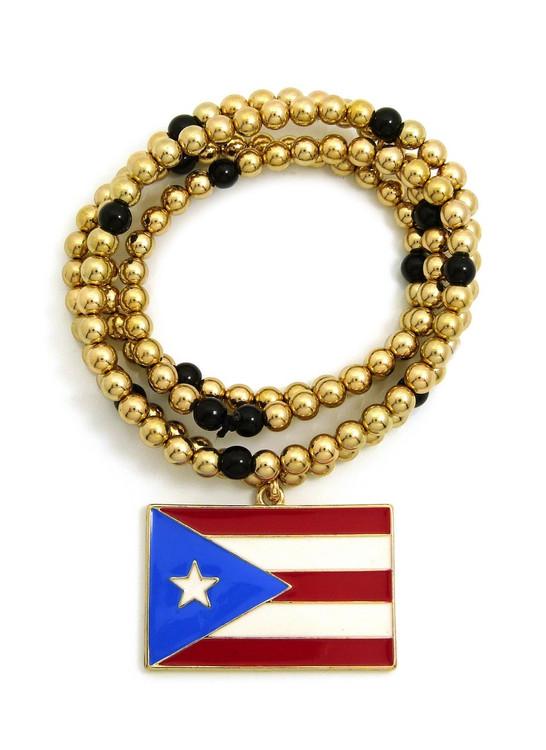 Flag of PUERTO RICO CCB Chain Pendant