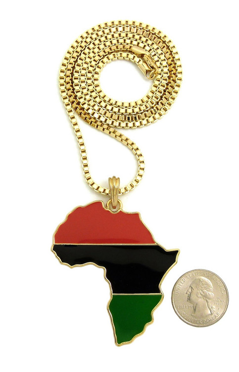 Mother Africa 14k Gold Chain Pendant