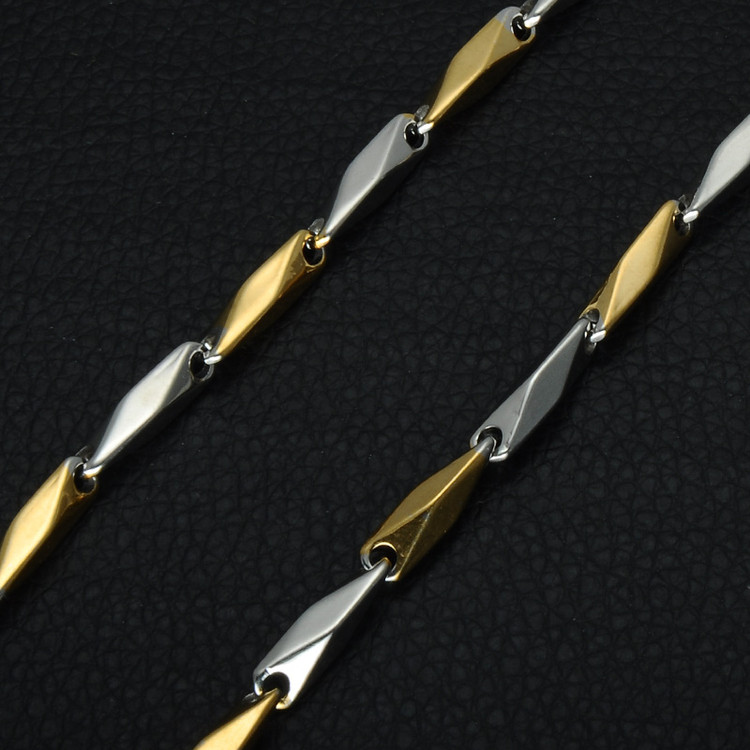 Mens Hip Hop Stainless Steel Titanium Chain Necklaces Jewelry