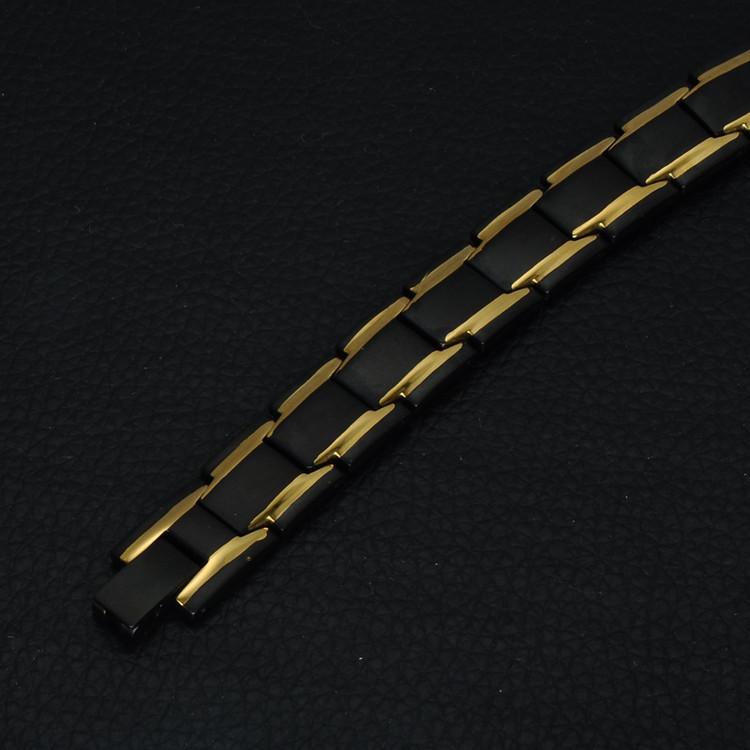 Men's Fashion 22CM 316L Stainless Steel Bio Elements Energy Germanium Bracelet