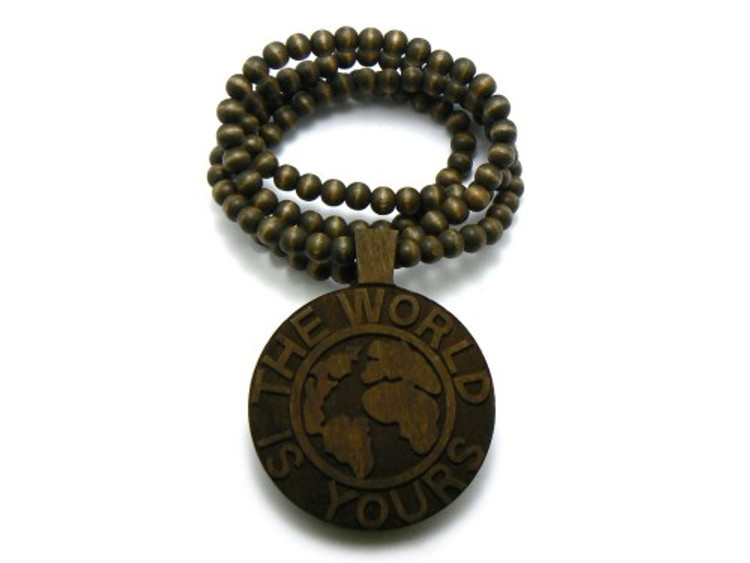 Scarface The World is Yours Hip Hop Pendant Brown