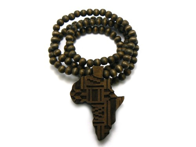 Wood Africa Wooden Hip Hop Pendant Brown