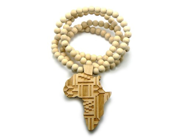 Wood Africa Wooden Hip Hop Pendant Natural