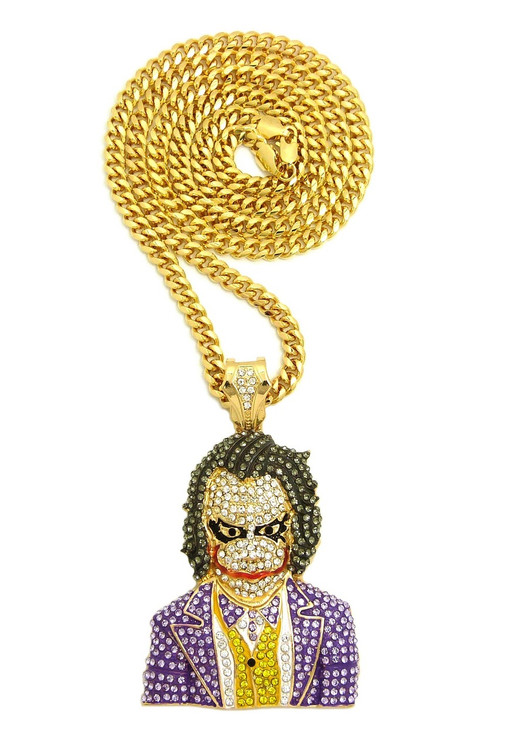 Iced Out Joker Pendant
