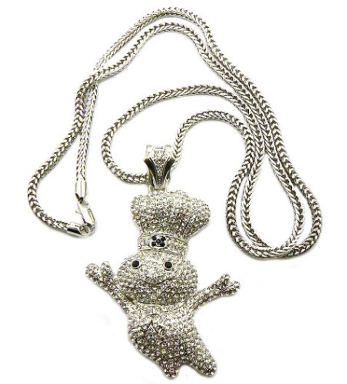 Diamond cz pillsbury dough boy hip hop bling silver pendant diamond cz pillsbury dough boy hip hop bling silver pendant mozeypictures Image collections
