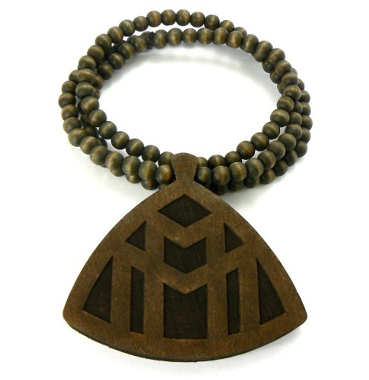 Wood Hip Hop Maybach Music Rick Ross Inspired Pendant Brown