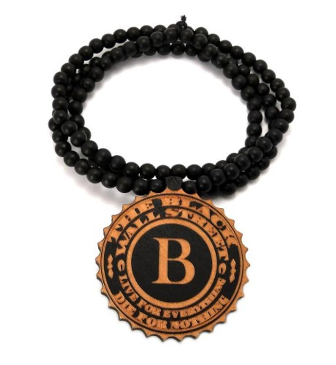 "Black Wall Street Wooden Hip Hop Pendant 36"" Chain"
