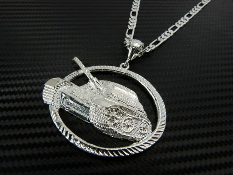 Hip Hop No Limit Tank Pendant Silver