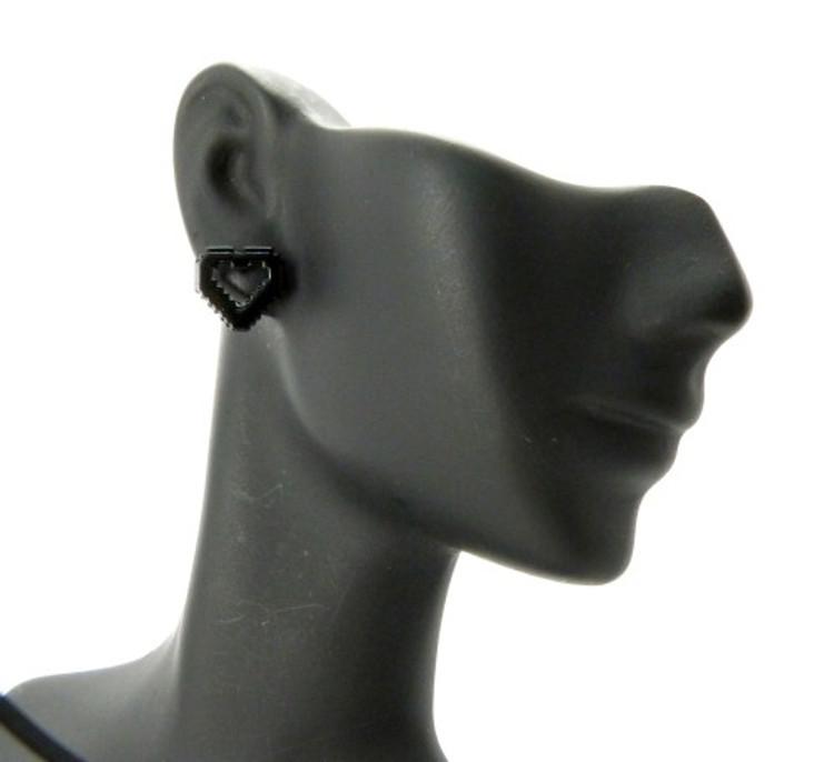 Ladies Computer Heart Earrings Black