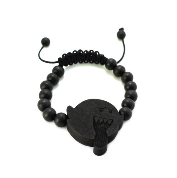 Evil Kirby Black Wood Adjustable Bracelet