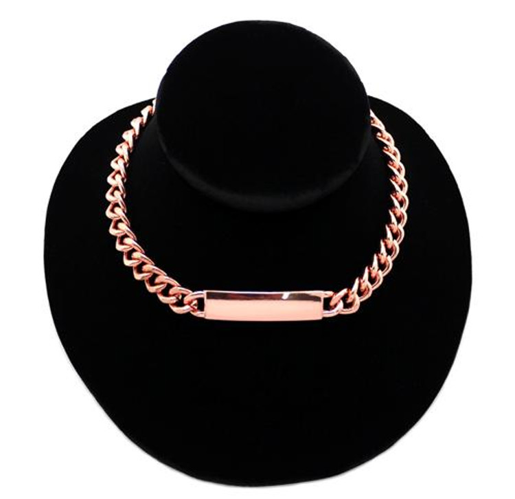 Rihanna Inspired Copper Small Chunky Chain Necklace