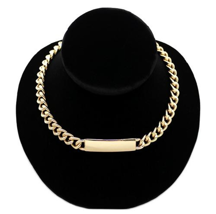 Rihanna Inspired Gold Small Chunky Chain Necklace
