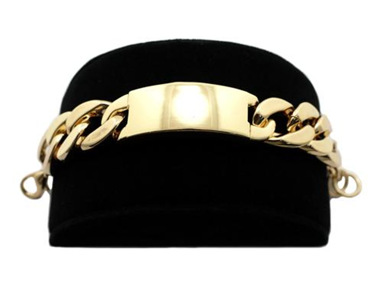 Rihanna Inspired Gold 20mm Chunky ID Bracelet