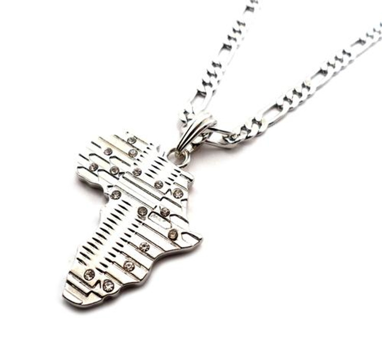 Mother Africa Cz Pendant Silver