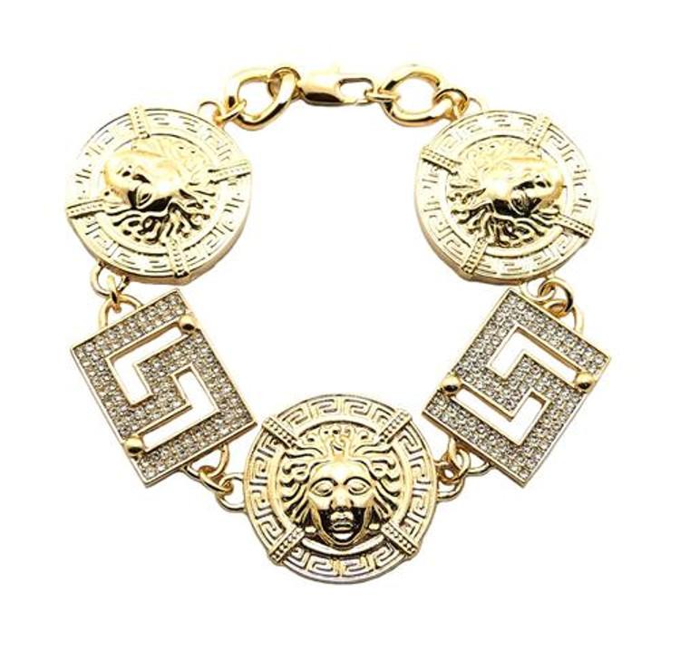 Tyga's Inspired Hip Hop Medusa Gold Bracelet #2
