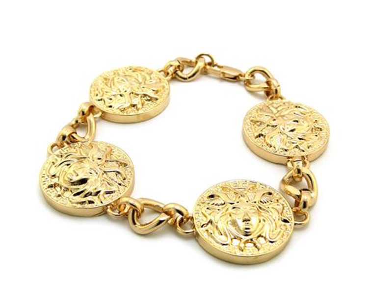 Medusa Snakes Celebrity Style Hip Hop Gold Bracelet