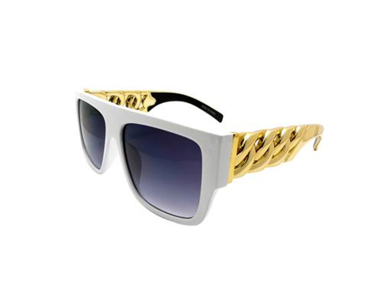 Celebrity Fashion Tyga Inspired Style Stunna Shades Sunglasses White